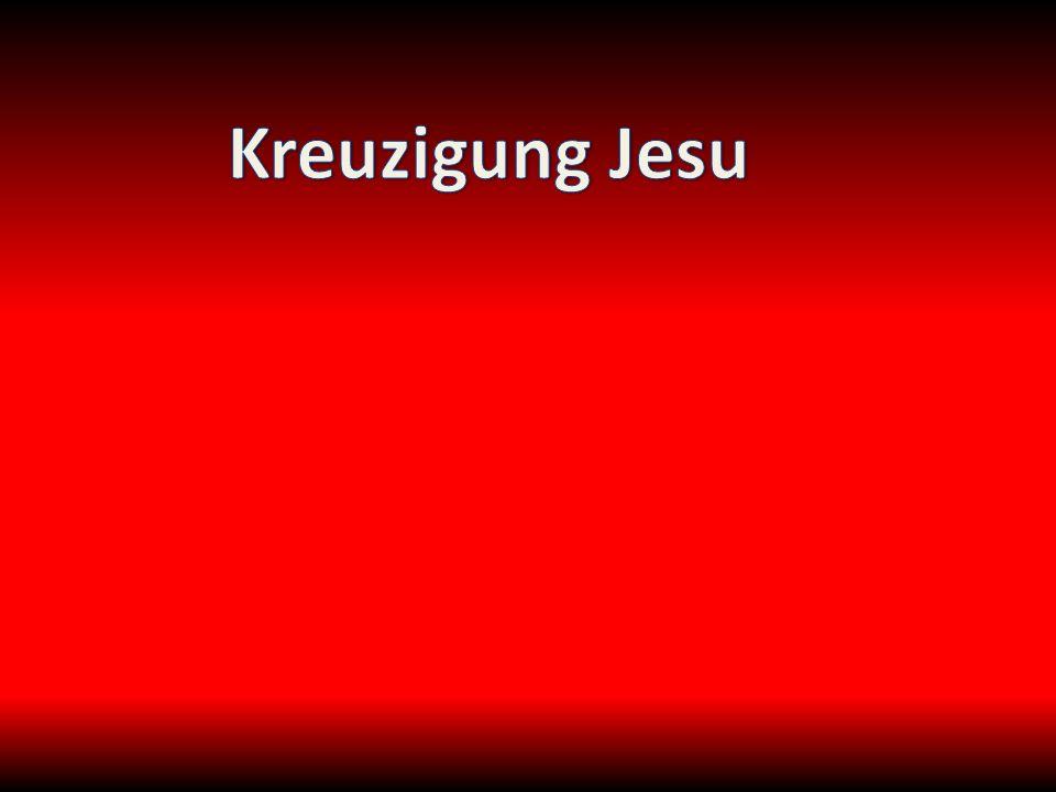 Dort kreuzigten sie ihn und mit ihm zwei andere zu beiden Seiten, Jesus aber in der Mitte.