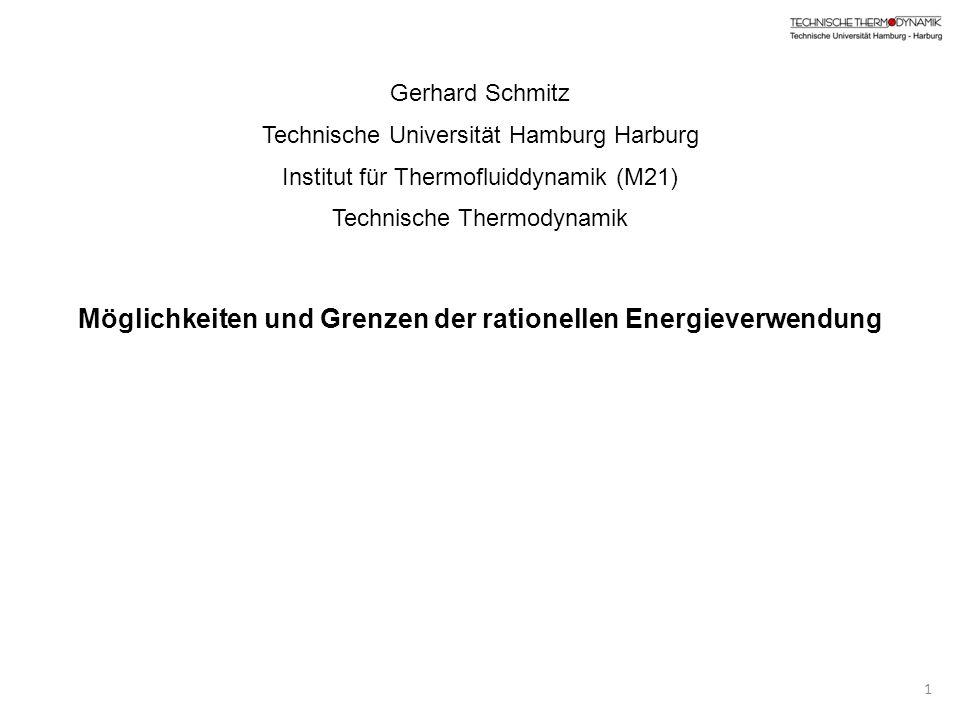 Gerhard Schmitz Technische Universität Hamburg Harburg Institut für Thermofluiddynamik (M21) Technische Thermodynamik Möglichkeiten und Grenzen der ra