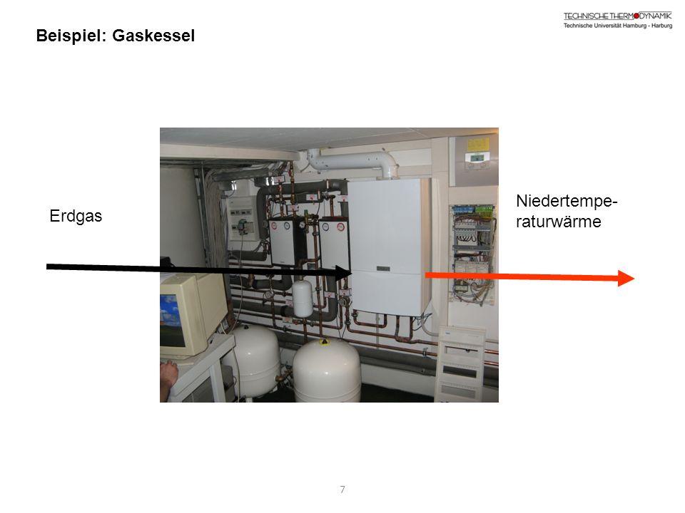 7 Beispiel: Gaskessel Niedertempe- raturwärme Erdgas