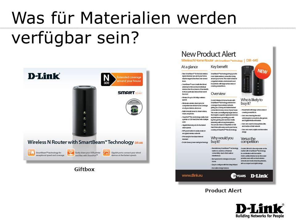 Was für Materialien werden verfügbar sein? Giftbox Product Alert