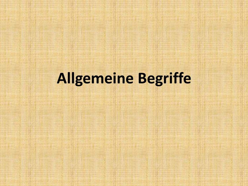 Allgemeines 1.