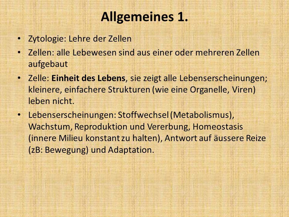 Chemie der Zelle 1.