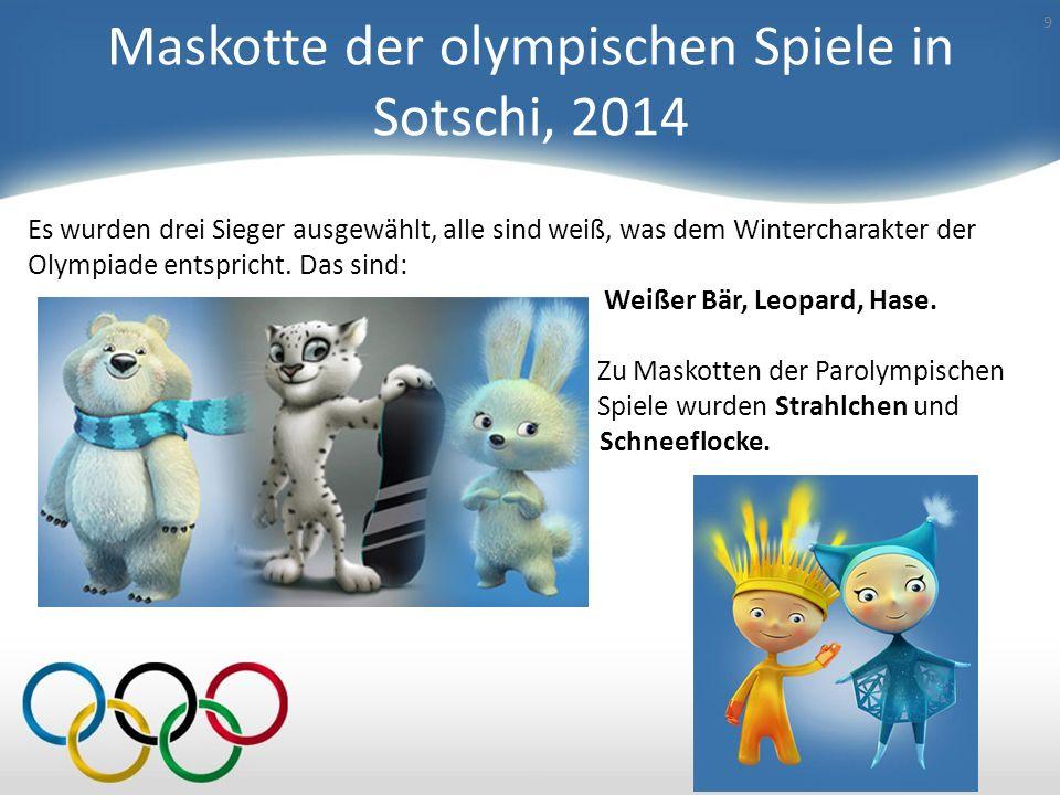 Olympiade – 80 8 Der olympische Bär wurde nicht zufällig als der offizielle Maskott ausgewählt. Das Bärchen Mischa ist eine erfolgreiche Verkörperung