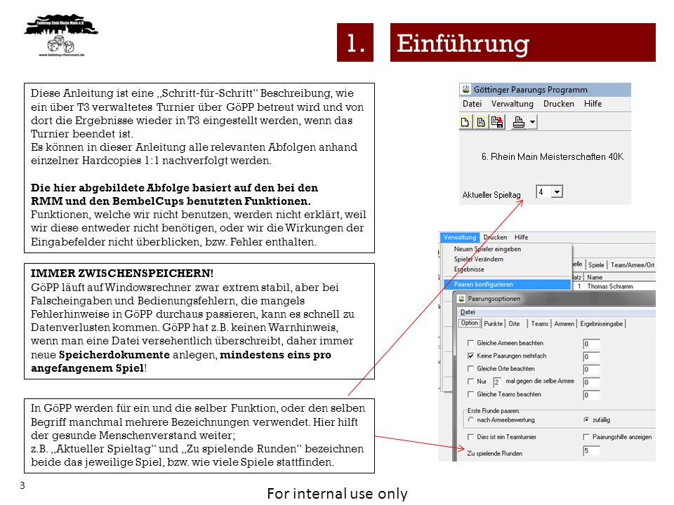For internal use only 24 Projektion am Beamer Ausgabe in TextScroll4.