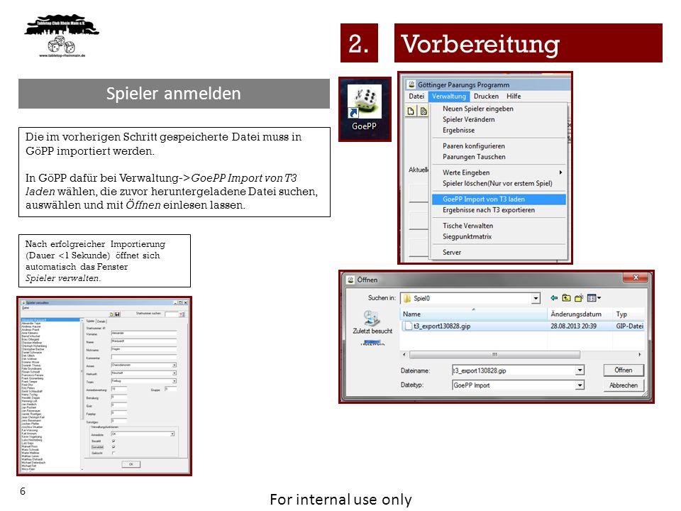 For internal use only 27 Nachdem die.html – Datei gespeichert wurde, kann diese über 1.
