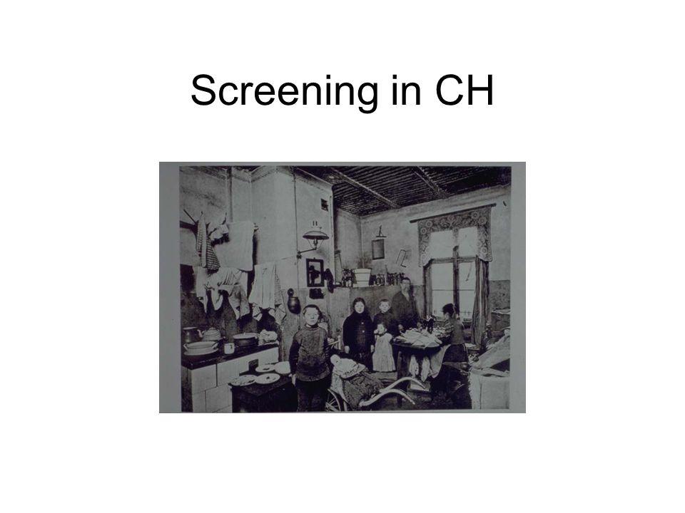 Screening in CH