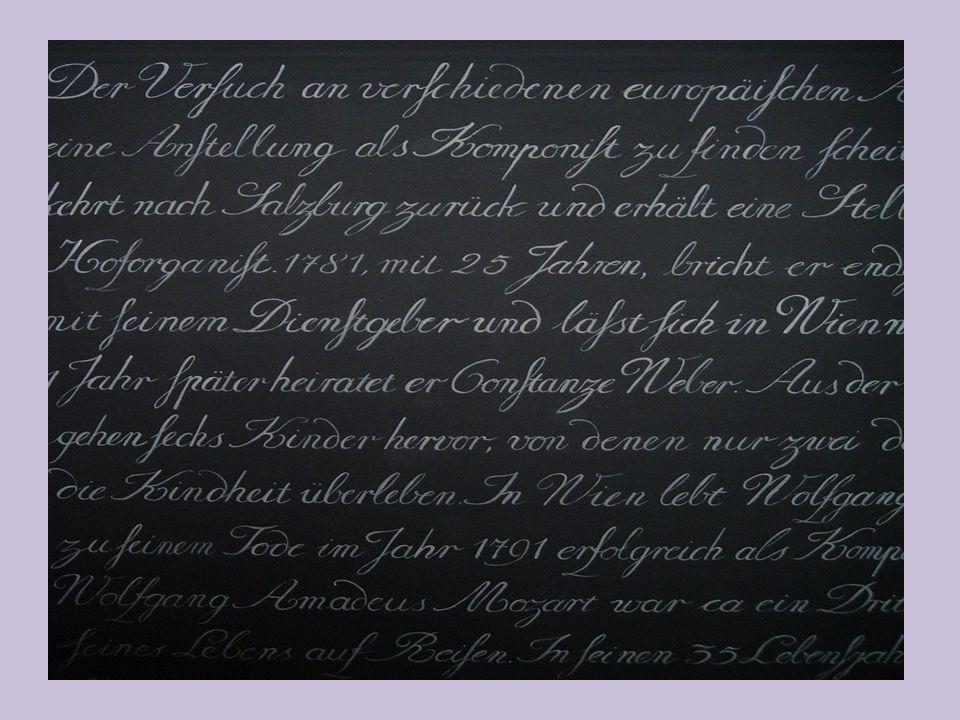 Beschreibungs Wörter Mozart schreibte die beste Musik.