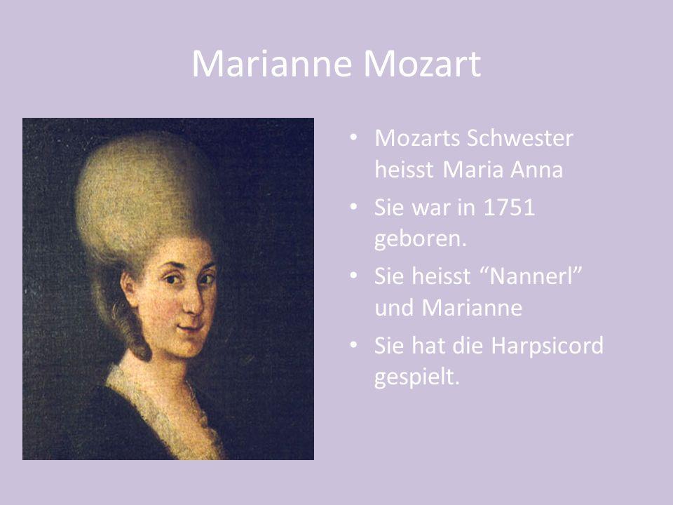 Costanza Weber Mozart Costanza hat Wolfgang am 4.August 1782 geheiratet.