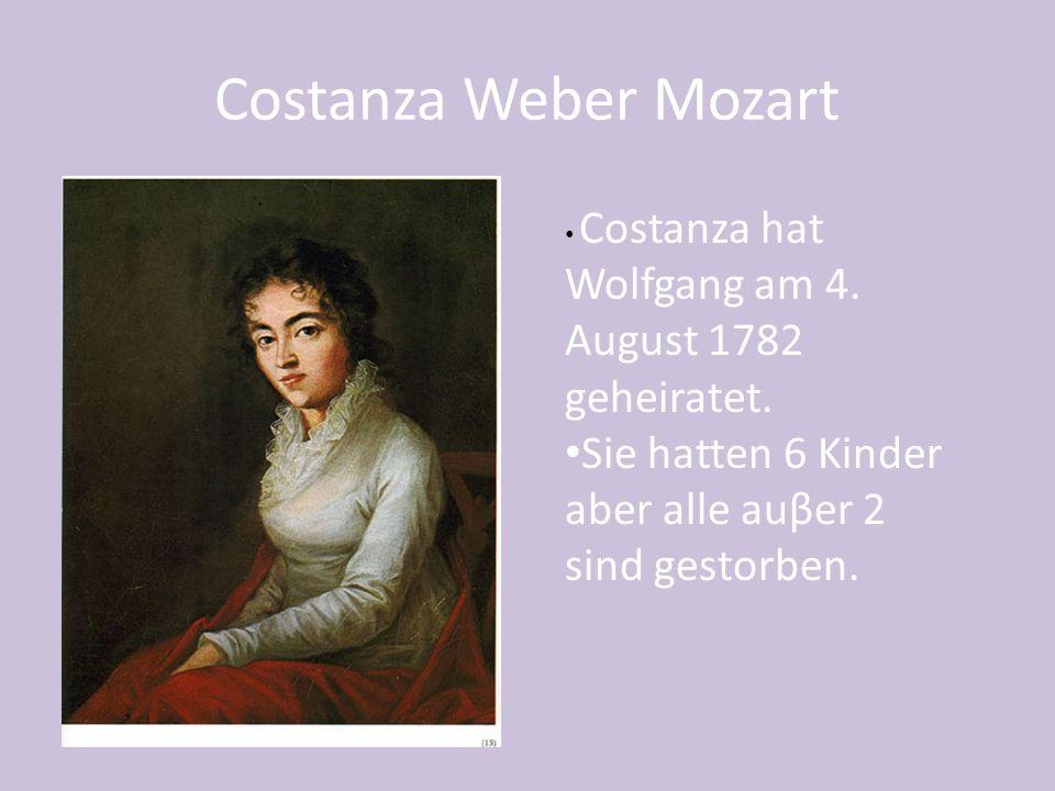 1787 The Marriage of Figaro 1782 Die Entfuhrung aus dem Serail 1791 Requiem 1787 Don Giovanni 1791 Die Zauberfloete Operas and Compositions