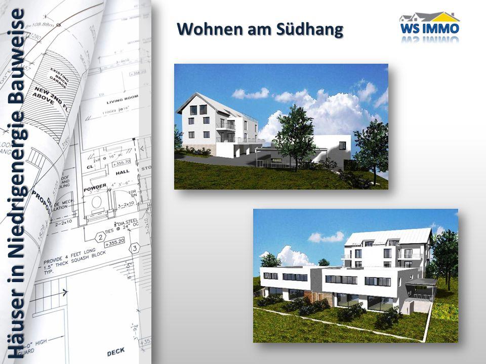 Wohnen am Südhang Häuser in Niedrigenergie Bauweise