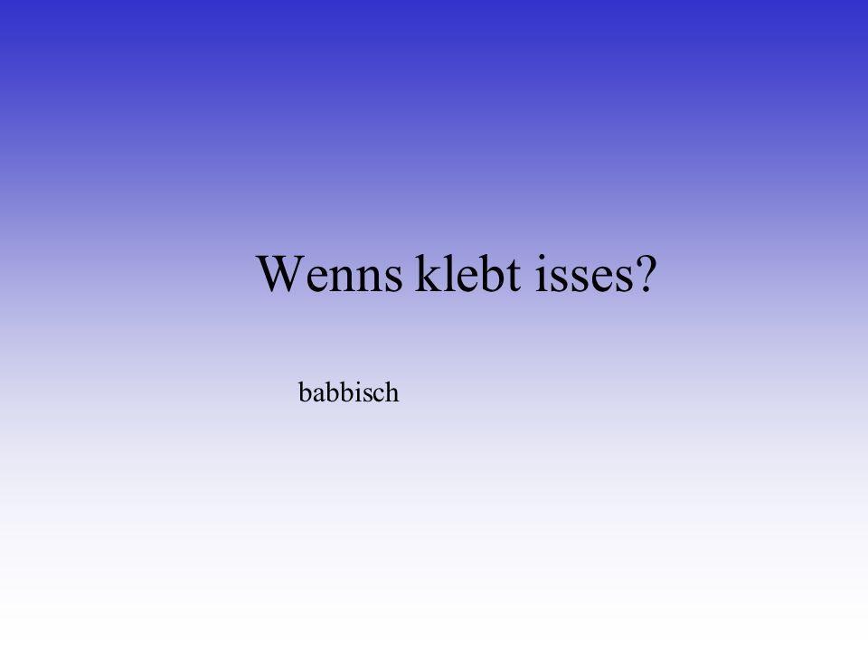 Des hessische Wort für en