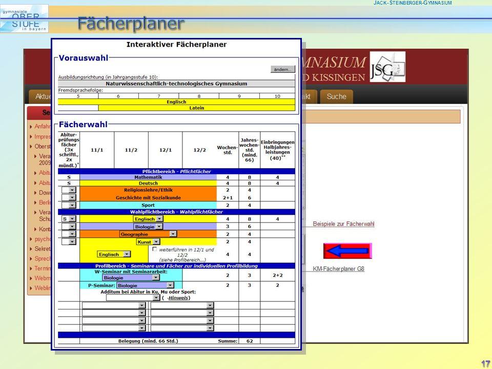 J ACK -S TEINBERGER -G YMNASIUM 17