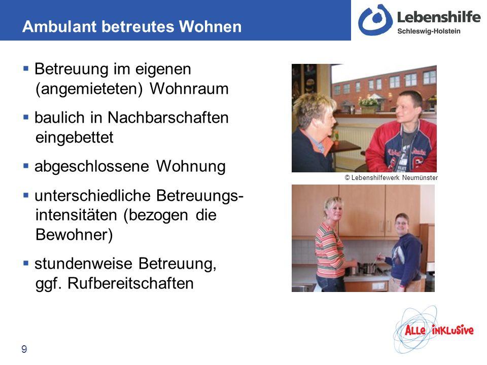 Beispiel: Aegidienhof Lübeck 10 Betreute Wohngruppe (mit Nachtbereitschaftsdienst) Bereitstellung des Wohnraums, Betreuung und Förderung aus einer Hand eingebettet in ein Wohnprojekt mit gemischter Nutzung (Wohnen und Gewerbe) © Aegidienhof e.V.