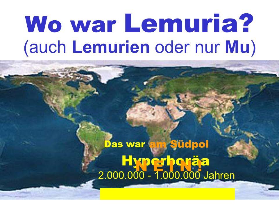 Wo war Lemuria.
