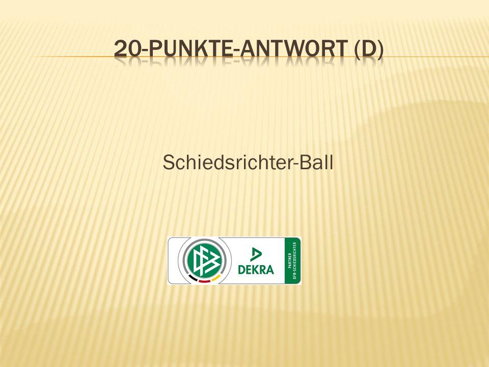 Schiedsrichter-Ball