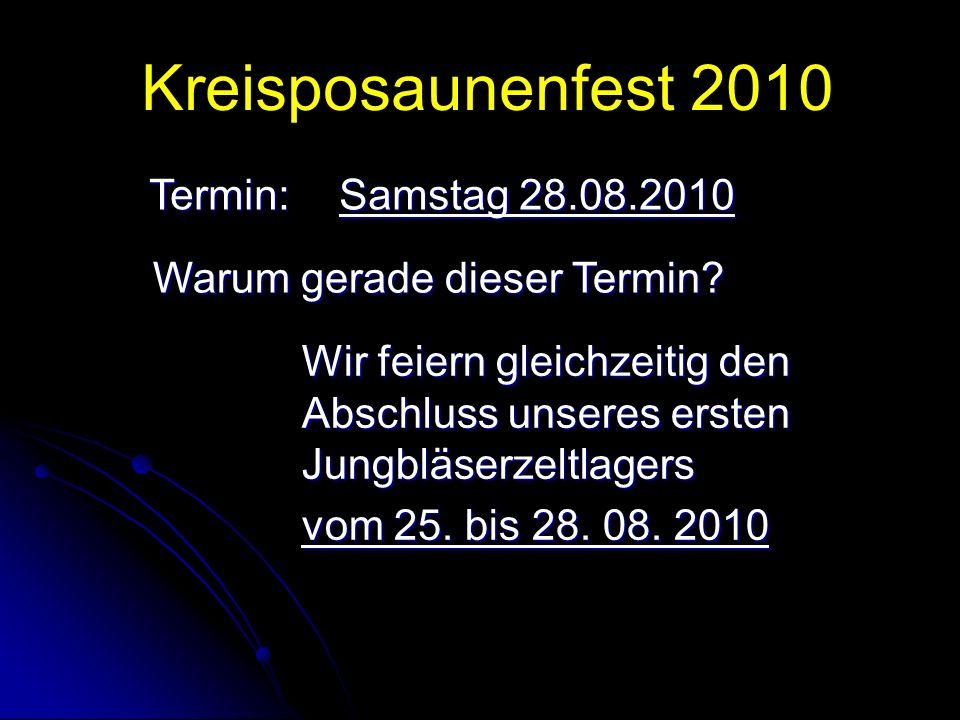 Kreisposaunenfest 2010 Wie… soll das Alles gehen.Wir brauchen viele Helfer.