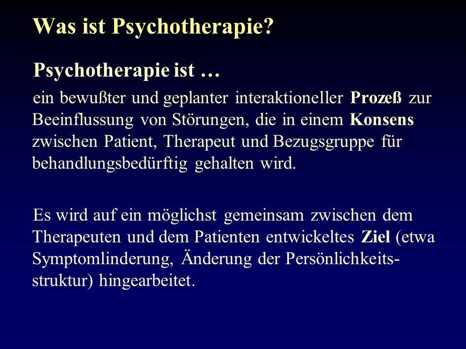 Was ist Psychotherapie.