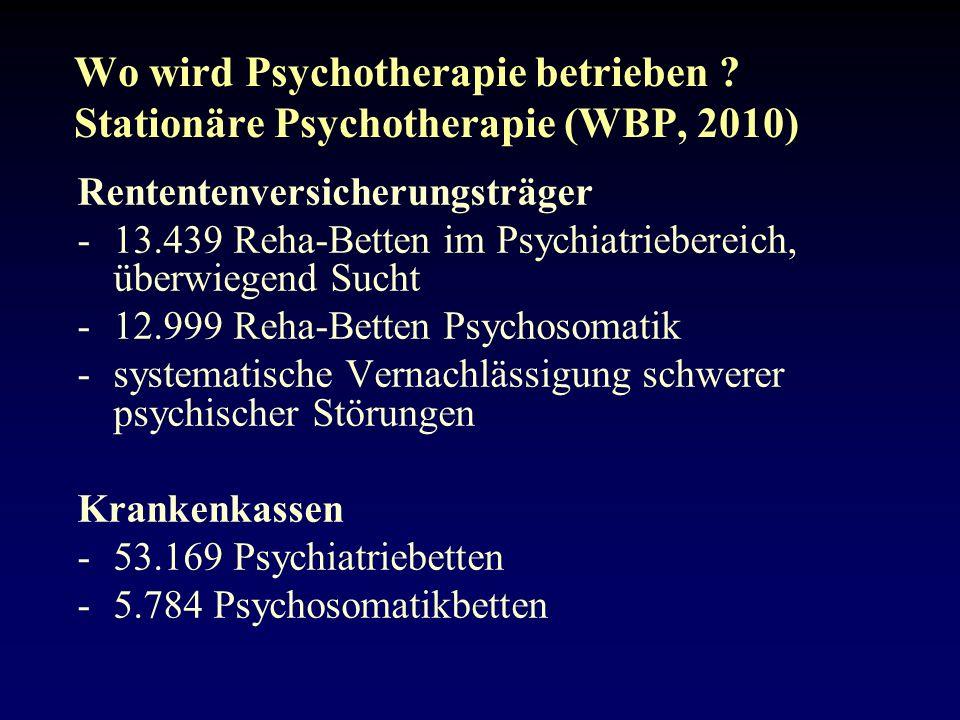 Wo wird Psychotherapie betrieben .
