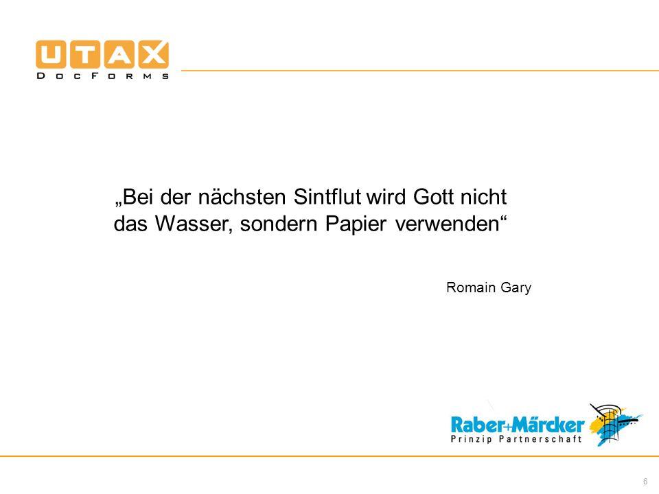 6 Bei der nächsten Sintflut wird Gott nicht das Wasser, sondern Papier verwenden Romain Gary