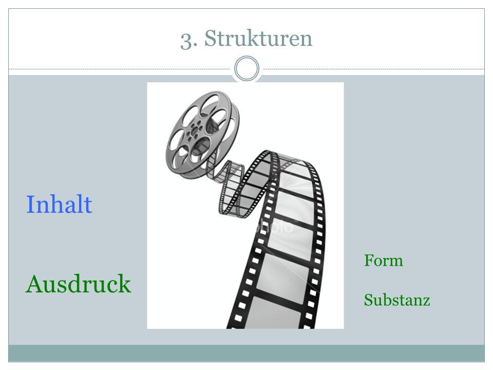3. Strukturen Ausdruck Inhalt Form Substanz