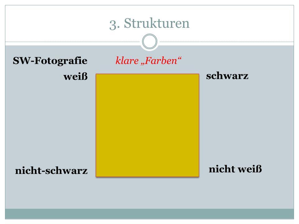 3. Strukturen weiß schwarz nicht weiß nicht-schwarz klare FarbenSW-Fotografie