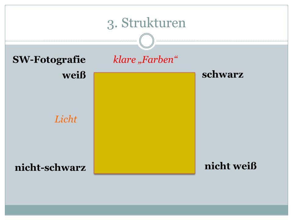 3. Strukturen weiß schwarz nicht weiß nicht-schwarz klare Farben Licht SW-Fotografie