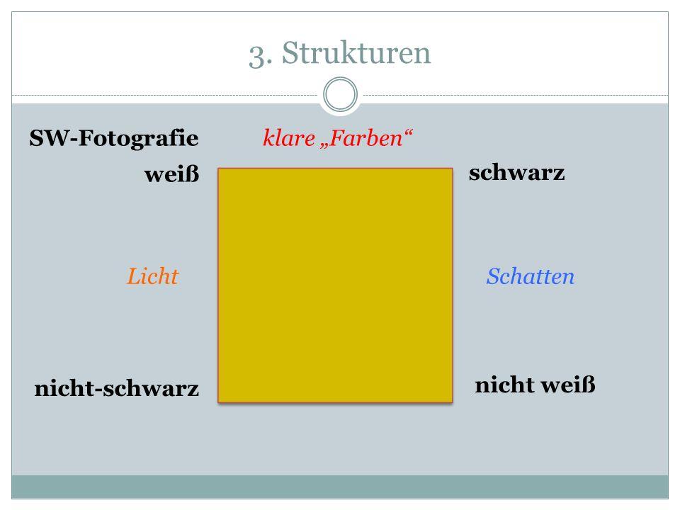 3. Strukturen weiß schwarz nicht weiß nicht-schwarz klare Farben LichtSchatten SW-Fotografie