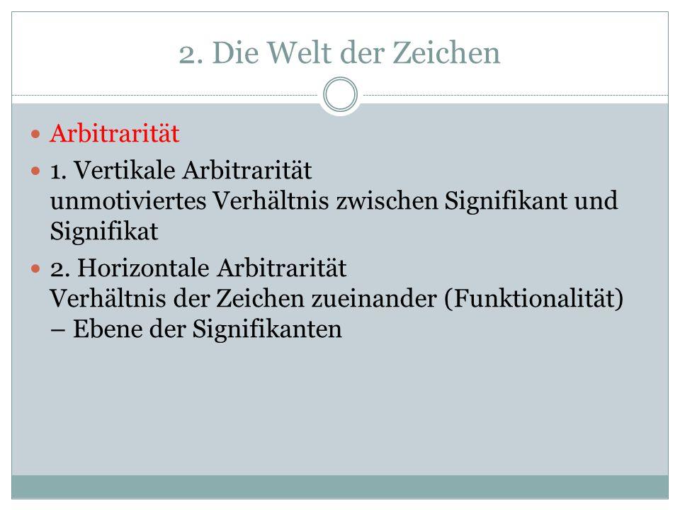 2.Die Welt der Zeichen Arbitrarität 1.