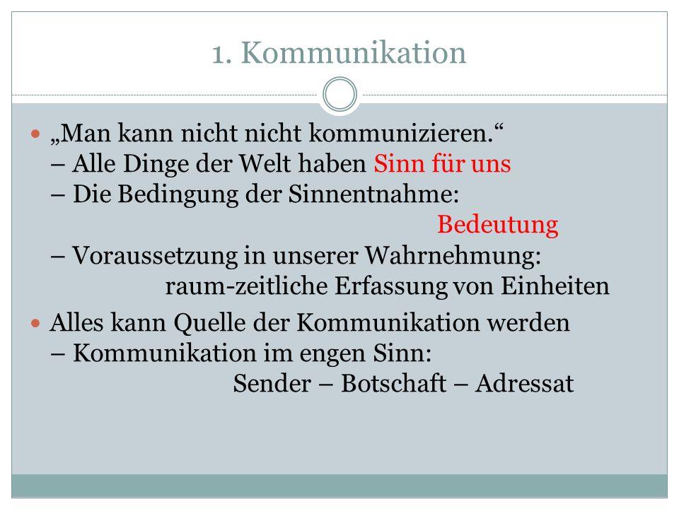 2. Die Welt der Zeichen Konnotation Denotation: einfache Relation