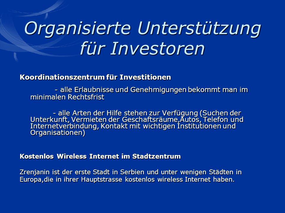 Organisierte Unterstützung für Investoren Koordinationszentrum für Investitionen - alle Erlaubnisse und Genehmigungen bekommt man im minimalen Rechtsf