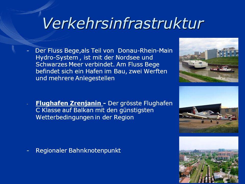 Verkehrsinfrastruktur - Der Fluss Bege,als Teil von Donau-Rhein-Main Hydro-System, ist mit der Nordsee und Schwarzes Meer verbindet. Am Fluss Bege bef