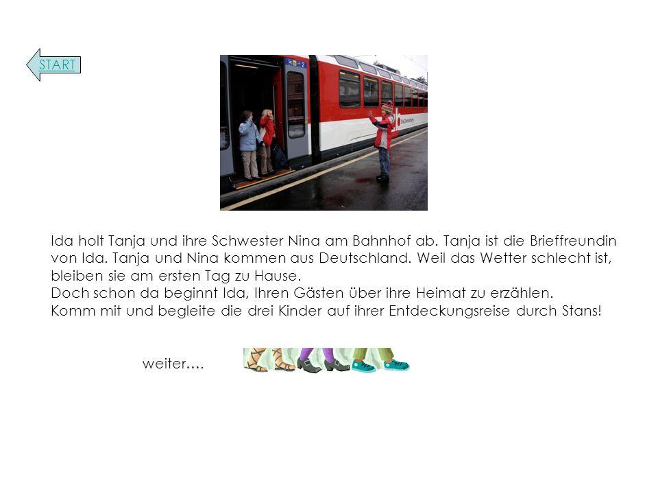 Ida holt Tanja und ihre Schwester Nina am Bahnhof ab.