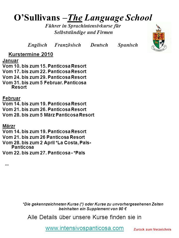 Januar Vom 10. bis zum 15. Panticosa Resort Vom 17.
