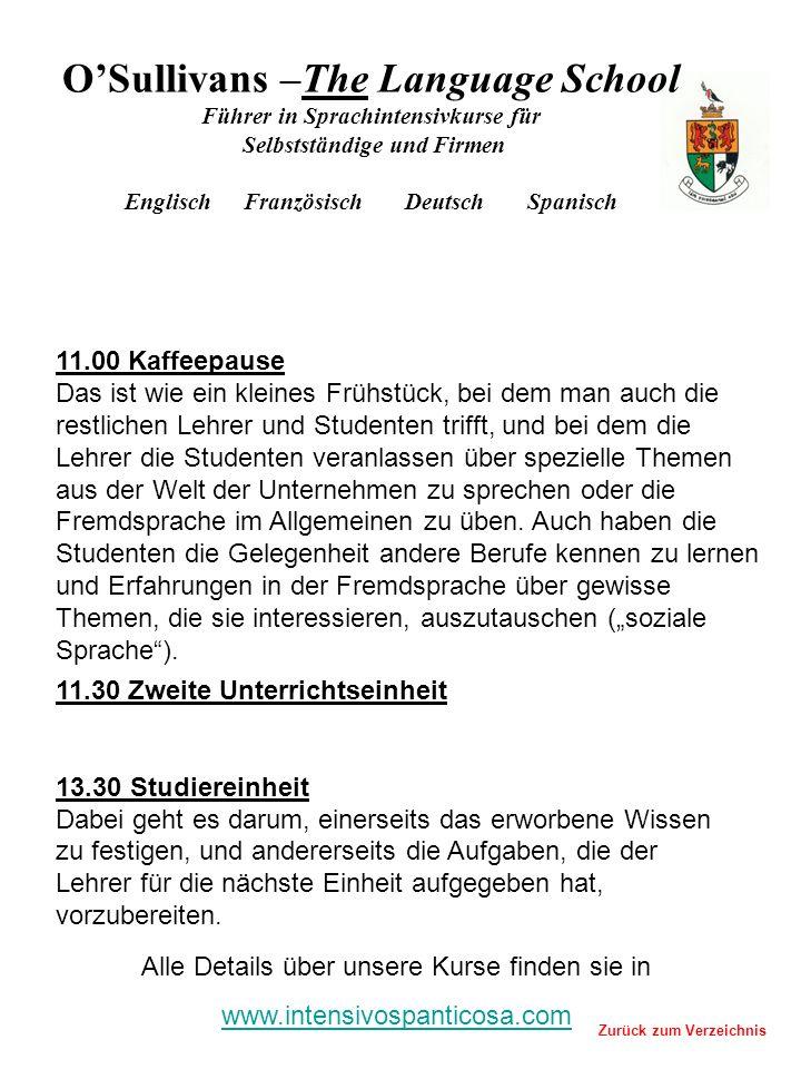11.30 Zweite Unterrichtseinheit 13.30 Studiereinheit Dabei geht es darum, einerseits das erworbene Wissen zu festigen, und andererseits die Aufgaben,