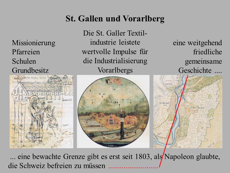 St. Gallen und Vorarlberg Magnus von St. Gallen heilt in Bregenz einen Blinden. ~ 1135 Missionierung Pfarreien Schulen Grundbesitz Schützenscheibe 170