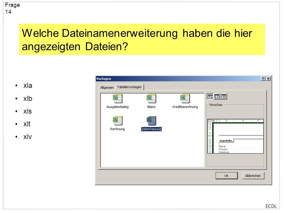 ECDL Frage 13 Was passiert, wenn auf die eingekreiste Schaltfläche geklickt wird? Die Seitenansicht erscheint und zeigt an, wie die Datei nach dem Dru