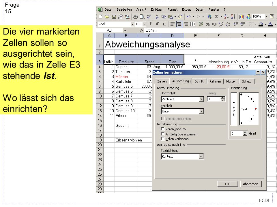 ECDL Frage 14 Welche Dateinamenerweiterung haben die hier angezeigten Dateien? xla xlb xls xlt xlv