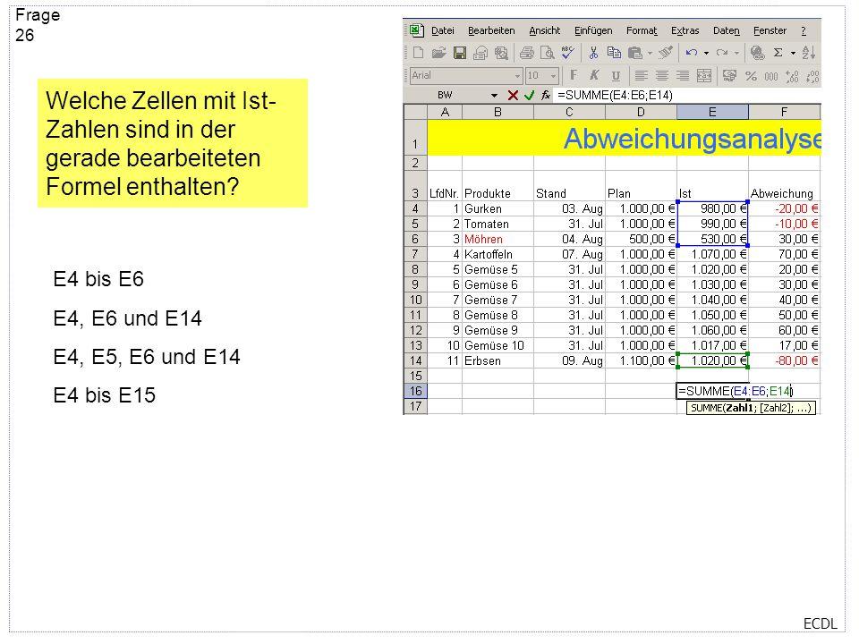 ECDL Frage 25 Die Spalte Konto (H) passt beim Drucken nicht mehr auf die Seite 1. Wo können Sie das ändern?