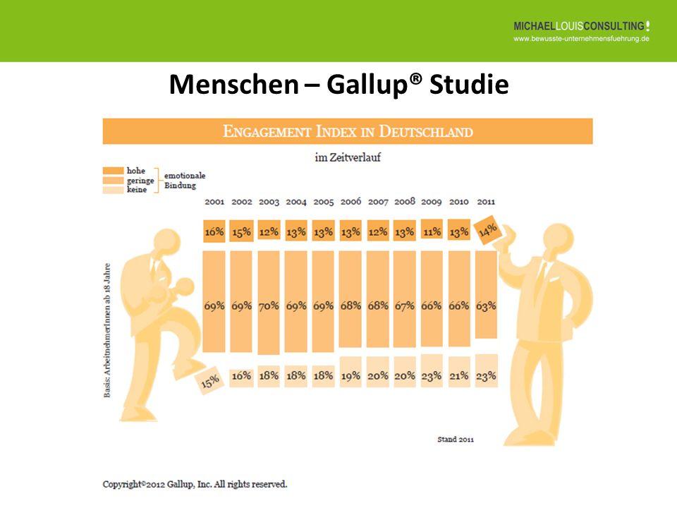 Menschen – Gallup® Studie