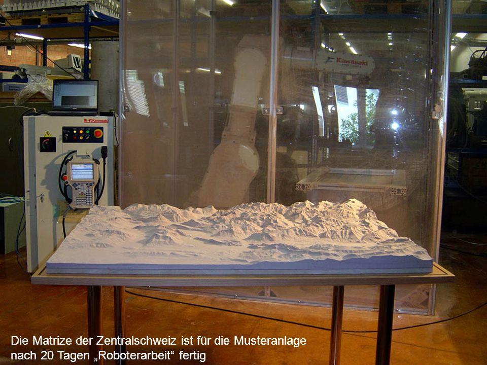 Die Matrize der Zentralschweiz ist für die Musteranlage nach 20 Tagen Roboterarbeit fertig