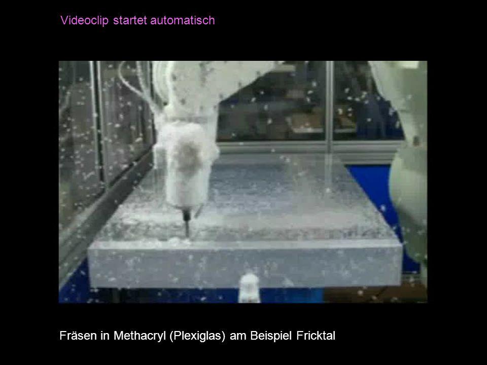 Fräsen in Methacryl (Plexiglas) am Beispiel Fricktal Videoclip startet automatisch