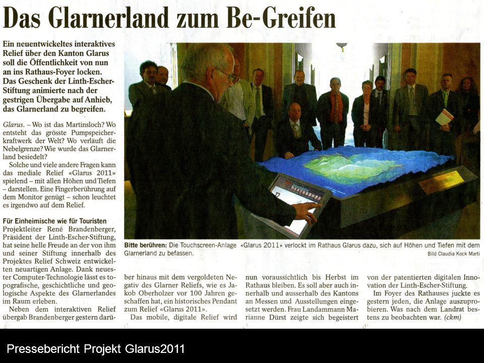 Projekt ganze Schweiz Schweiz interaktiv Pressebericht Projekt Glarus2011