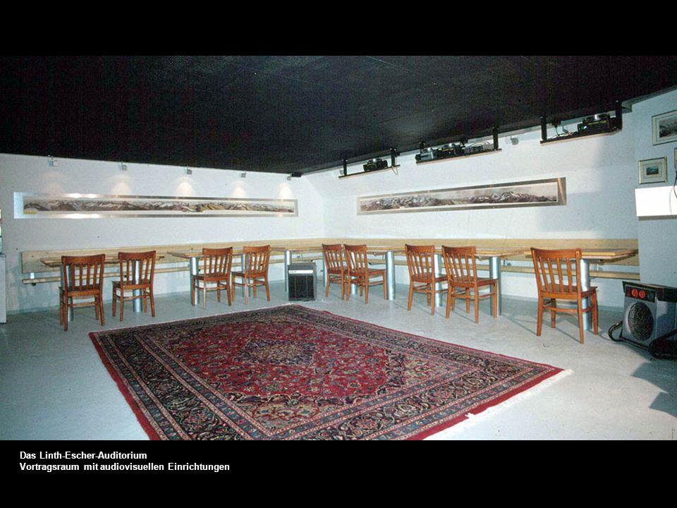 Das Linth-Escher-Auditorium Vortragsraum mit audiovisuellen Einrichtungen