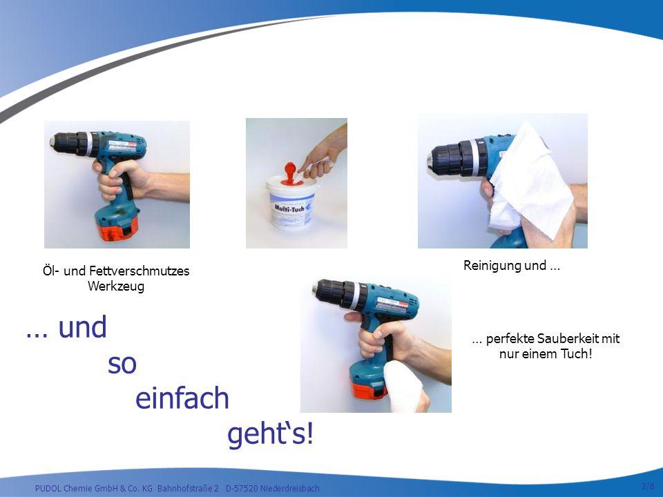 PUDOL Chemie GmbH & Co. KG Bahnhofstraße 2 D-57520 Niederdreisbach … und so einfach gehts.