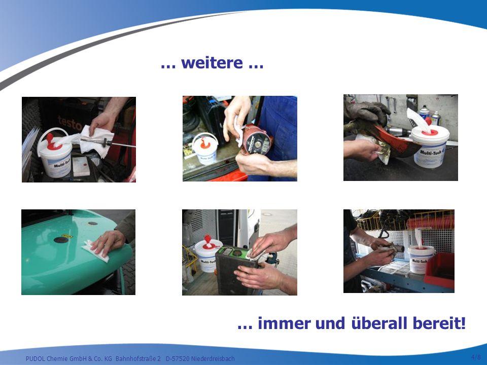 PUDOL Chemie GmbH & Co.KG Bahnhofstraße 2 D-57520 Niederdreisbach … immer und überall bereit.