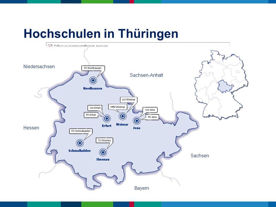 ! Studieren in Thüringen heißt Studieren in der geografischen Mitte Deutschlands von hier aus ist man schnell in Frankfurt, München oder Berlin Studieren in Thüringen Anbindung Studieren in Thüringen zentrale Anbindung