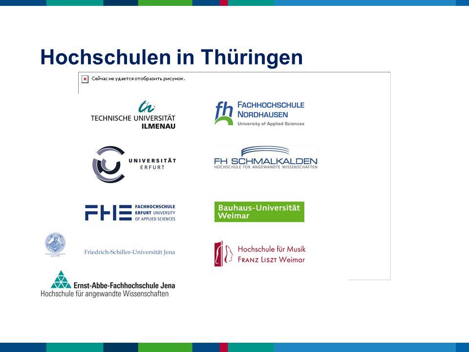 die Thüringer Hochschulen bieten Studiengänge von Alte Geschichte bis Zahnmedizin hier gibt es ein breites Studienangebot mit vielfältigen Wahlmöglichkeiten .