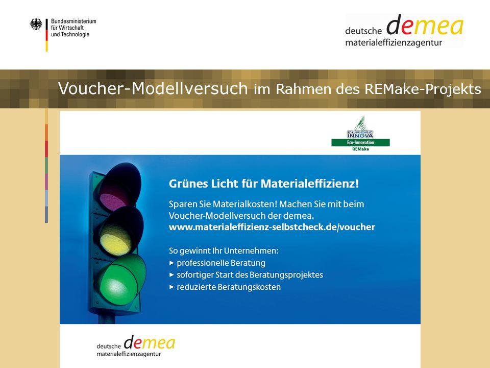 Impulsprogramm Materialeffizienz Voucher-Modellversuch im Rahmen des REMake-Projekts