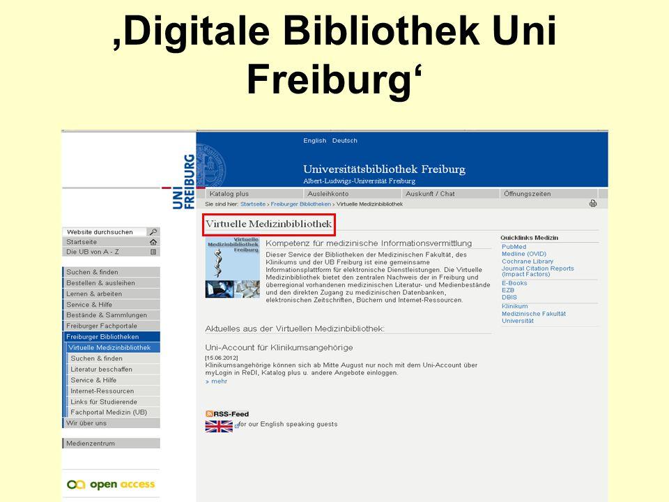 Digitale Bibliothek Uni Freiburg