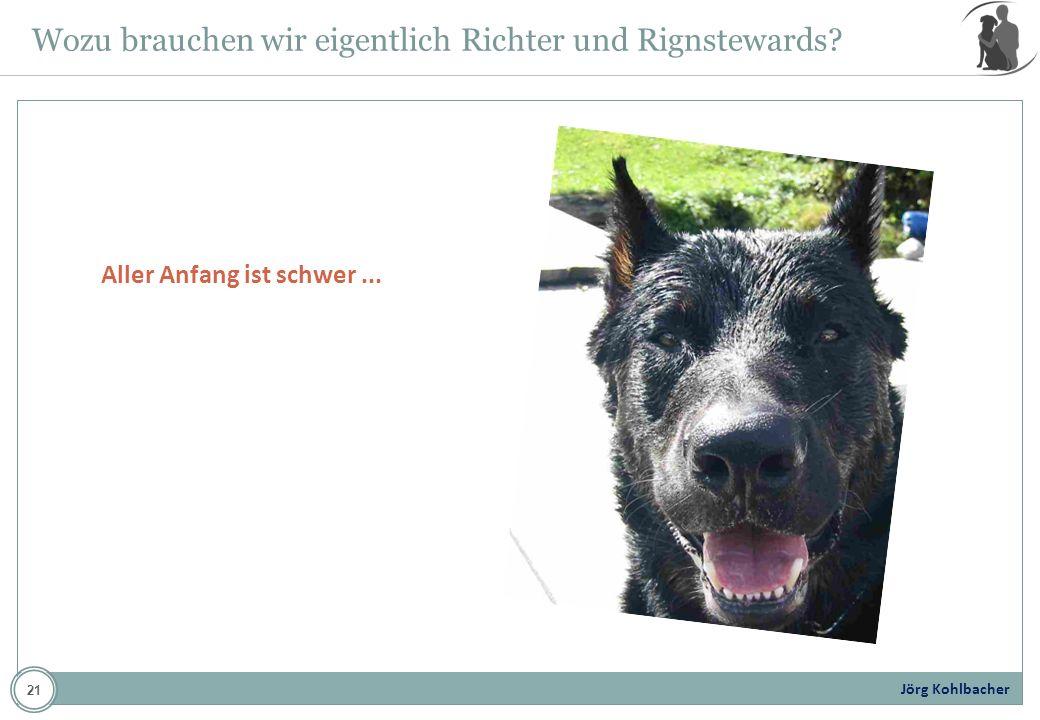 Jörg Kohlbacher Wozu brauchen wir eigentlich Richter und Rignstewards? Aller Anfang ist schwer... 21